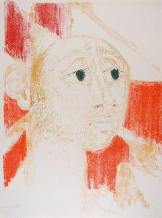 Litografia Somville - Arlequin Rouge