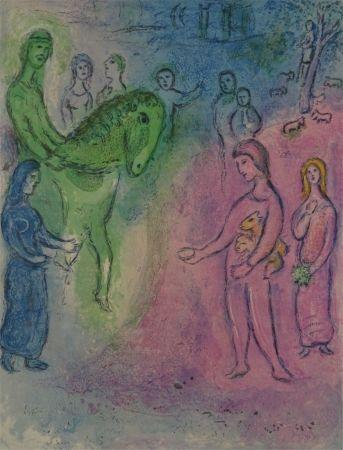 Litografia Chagall - Arrivee de Dionysophane