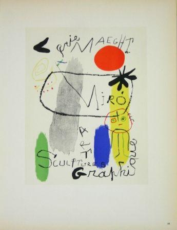 Litografia Miró - Art Graphique Galerie Maeght