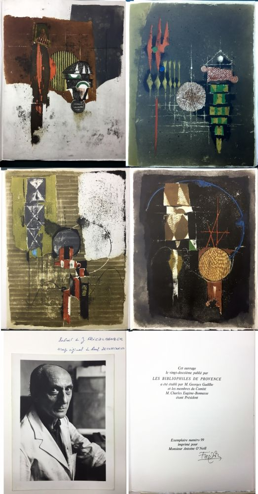 Libro Illustrato Friedlaender - Arthur Rimbaud. LES ILLUMINATIONS. Les Bibliophiles de Provence 1979