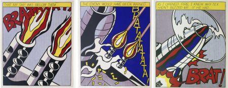 Litografia Lichtenstein -  As I Opened Fire