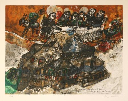 Litografia Tobiasse - Assemblee des Rabbins et Notables au lgime dans un village de Lithuanie