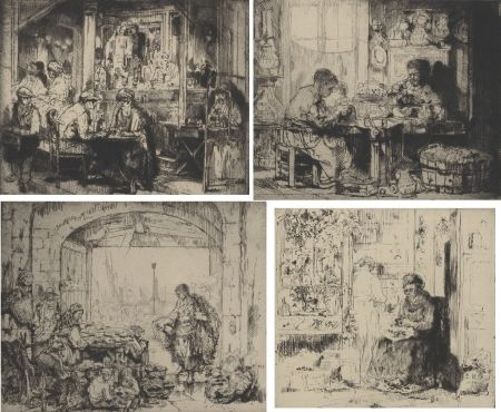 Incisione Brouet - (Assorted Occupations:  A Collection Of Ten Original Etchings)