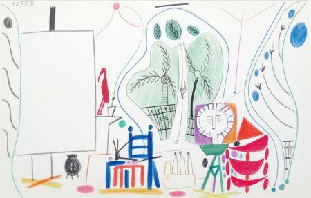 Litografia Picasso - Atelier