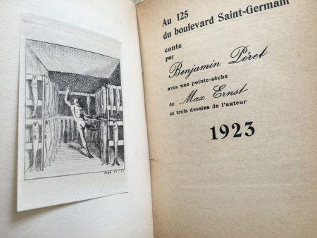 Libro Illustrato Ernst - AU 125 DU BOULEVARD SAINT-GERMAIN. Conte par Benjamin Péret (1923)