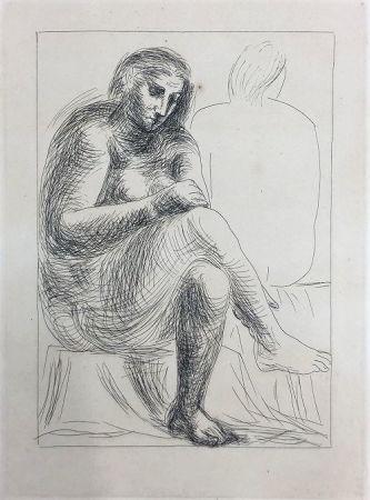 Acquaforte Picasso - Au bain