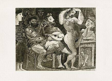 Acquaforte Picasso - Au Cabaret