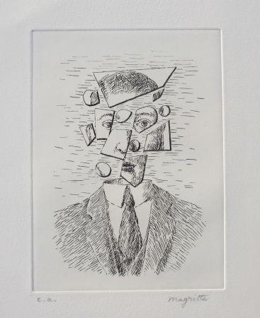 Acquaforte Magritte - Aube à l'Antipode