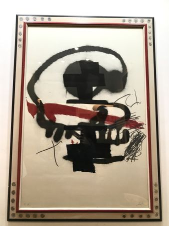 Litografia Tàpies - Ausstellung Tàpies - Milano