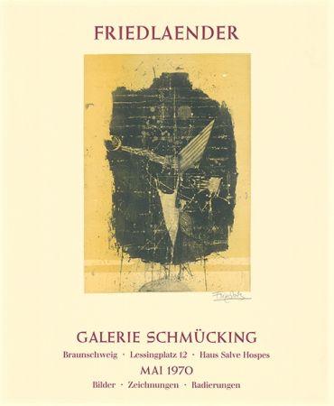 Acquaforte E Acquatinta Friedlaender - Ausstellungsplakat Galerie Schmücking, Braunschweig, 1970