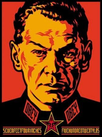Serigrafia Fairey - Authoritarian