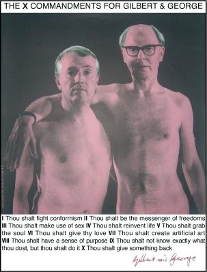Serigrafia Gilbert & George - Autoportrait
