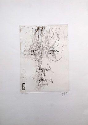 Acquaforte Janssen - Autoportrait