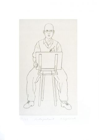 Incisione Klapheck - Autoportrait