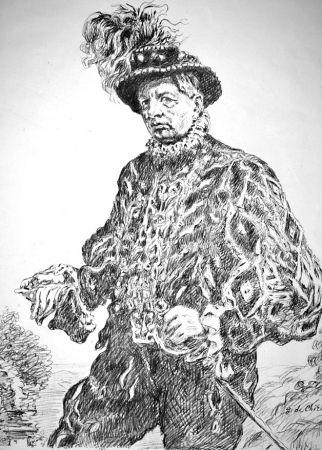 Litografia De Chirico - Autoritratto in costume