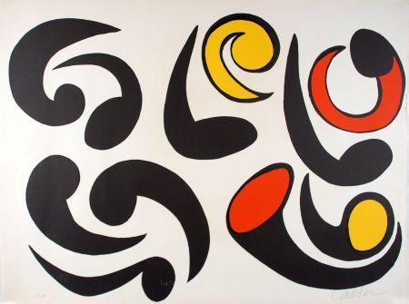 Litografia Calder - Autres têtards