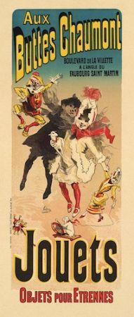 Litografia Cheret - Aux Buttes Chaumont, Jouets