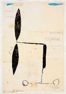 Multiplo Riera I Aragó - Avió hèlix daurada sobre manuscrits