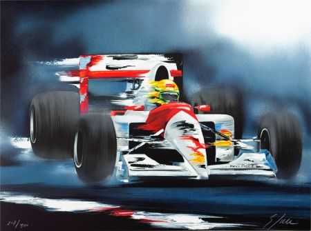 Litografia Spahn - Ayrton Senna
