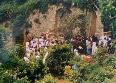 Fotografie Nitsch - Azione N. 96 – Giardini S. Martino A Napoli