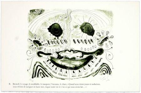 Litografia Nørgaard - B. Béowulf, le voyage, le modifiable, le transport, l'inconnu, le chaos,