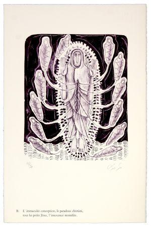 Litografia Nørgaard - B. L'immaculée conception, la paradoxe chrétien, tous les petits Jésus, l'innocence momifiée