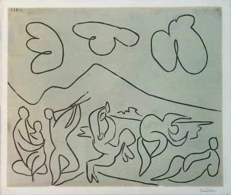 Linoincisione Picasso - BACCHANALE (BLOCH 927)