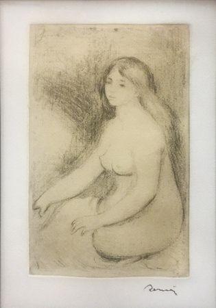 Incisione Renoir - BAIGNEUSE ASSISE (D., S. 11)