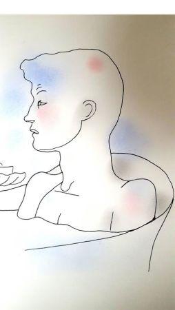 Litografia Cocteau - Bain