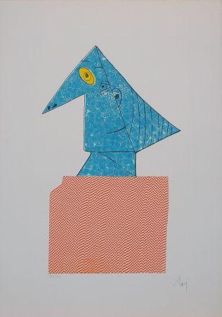 Incisione Baj - Baj chez Picasso 1