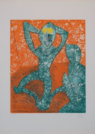 Incisione Baj - Baj chez Picasso 11,