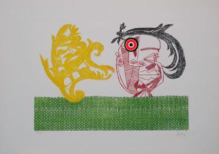 Incisione Baj - Baj chez Picasso 2