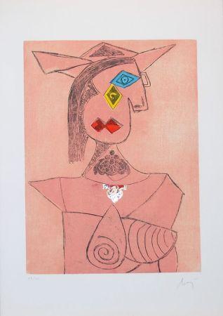 Incisione Baj - Baj chez Picasso 8