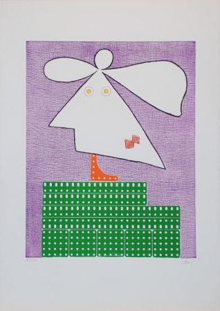 Incisione Baj - Baj chez Picasso 9