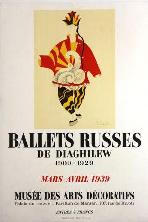 Litografia Picasso - Ballets Russes de Diaghilew  Musee des Arts Decoratifs