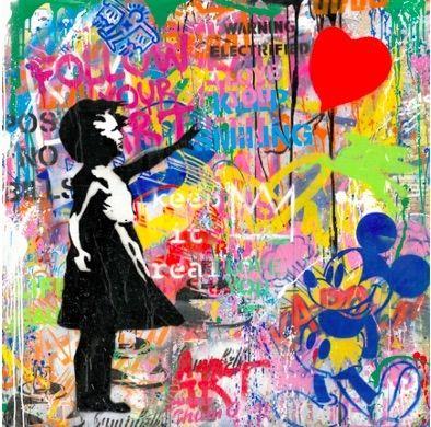 Serigrafia Mr Brainwash -  Balloon Girl, 2020