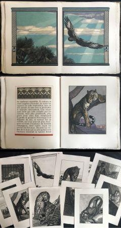 Libro Illustrato Jouve - Balzac : UNE PASSION DANS LE DÉSERT. Illustrations de Paul Jouve (1949).