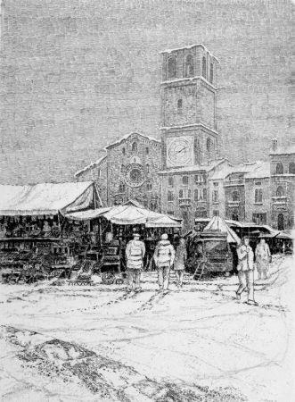 Acquaforte Cotugno  - Bancarelle al mercato a Lodi