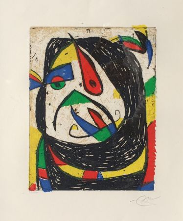 Incisione Miró - Barb IV