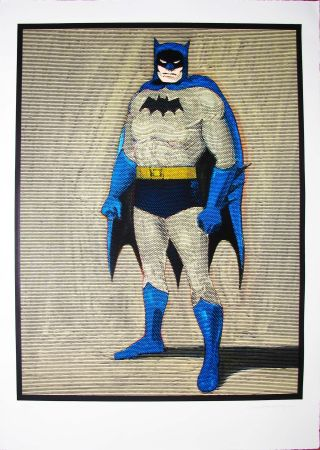 Incisione Su Legno Ramos - Batman