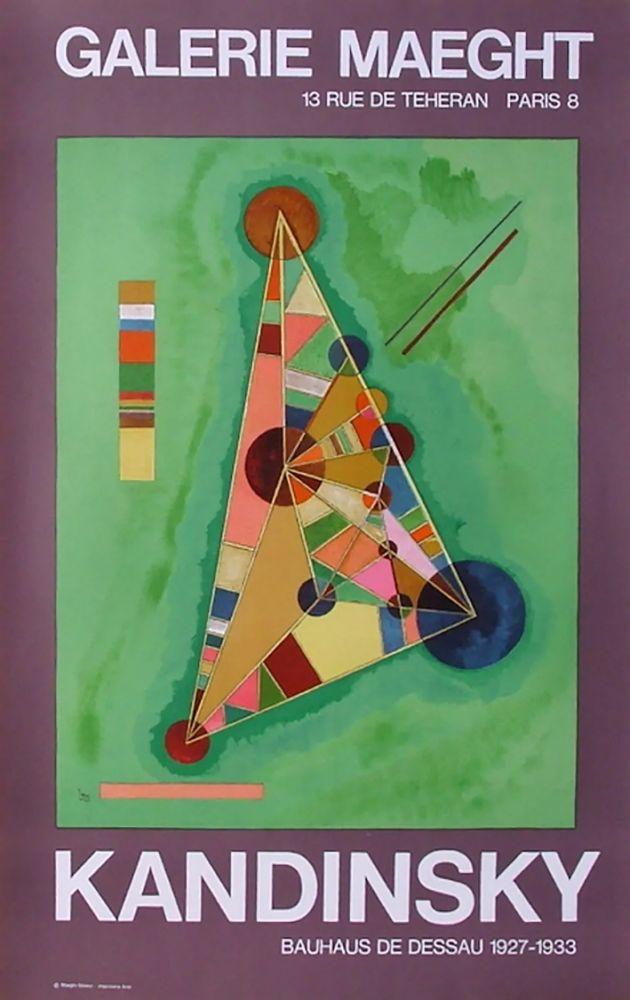 Manifesti Kandinsky - BAUHAUS DE DESSAU. Affiche originale en lithographie (1965).