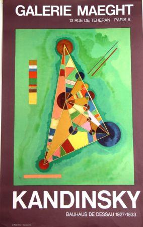 Litografia Kandinsky - Bauhaus de Dessau  Galerie Maeght