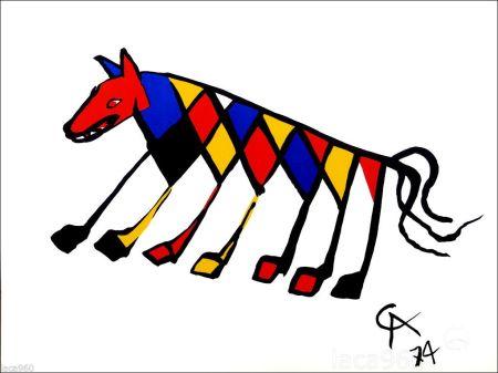 Litografia Calder - Beastie