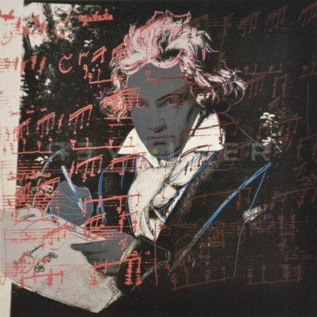 Serigrafia Warhol - Beethoven (Fs Ii.391)