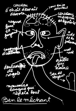 Serigrafia Vautier - '' Ben le Méchant ''