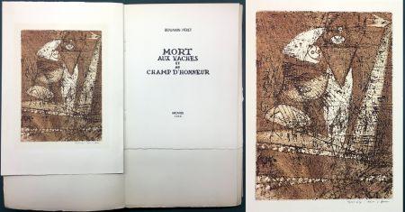 Acquaforte E Acquatinta Ernst - Benjamin Péret : MORT AUX VACHES ET AU CHAMP D'HONNEUR. 1/50 avec l'eau-forte signée de Max Ernst.