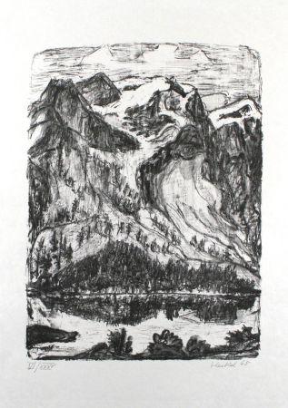 Litografia Heckel - Berghang am See