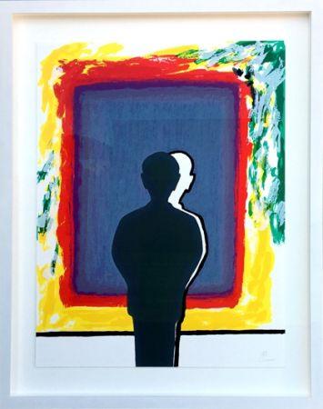 Serigrafia Raveel - Bezinning bij de weerschijn in kleuren verzadigd