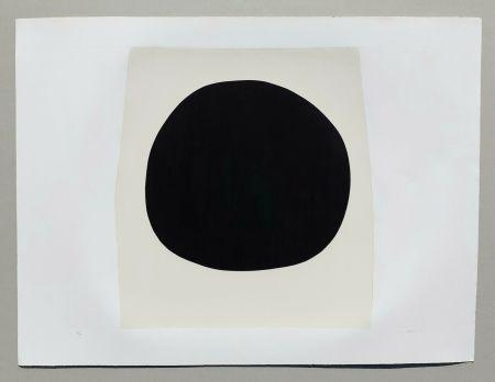 Litografia Burri - Bianchi e neri I - Tavola F
