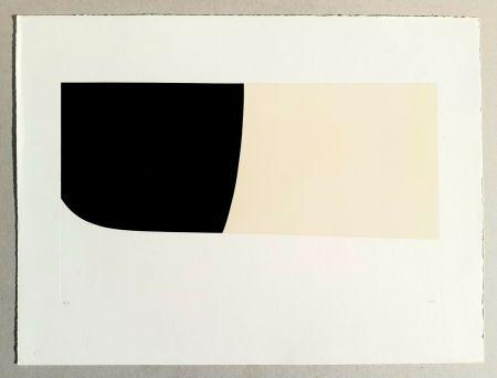 Litografia Burri - Bianchi e neri II